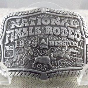 National Finals Rodeo 1999 Hesston Belt Buckle